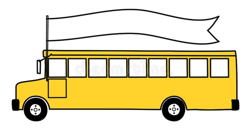 黄色学校班车 r 向量例证