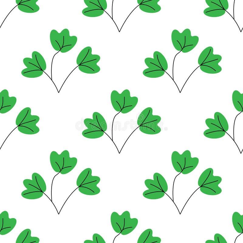 r επίπεδο φύλλο του φυτού ή του λουλουδιού ή κλάδος που απομονώνεται στο λευκό Floral στοιχείο εγκαταστάσεων ντεκόρ Άνευ ραφής βο ελεύθερη απεικόνιση δικαιώματος