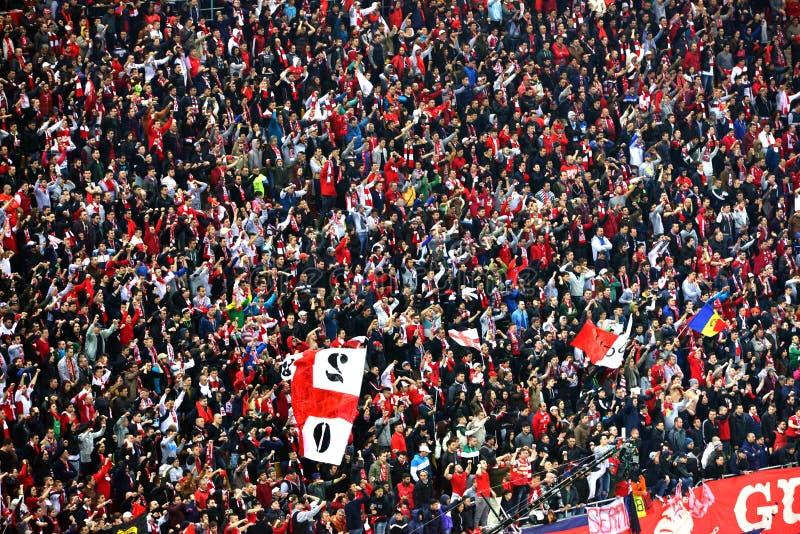 Coreografía de aficionados al fútbol fotos de archivo libres de regalías