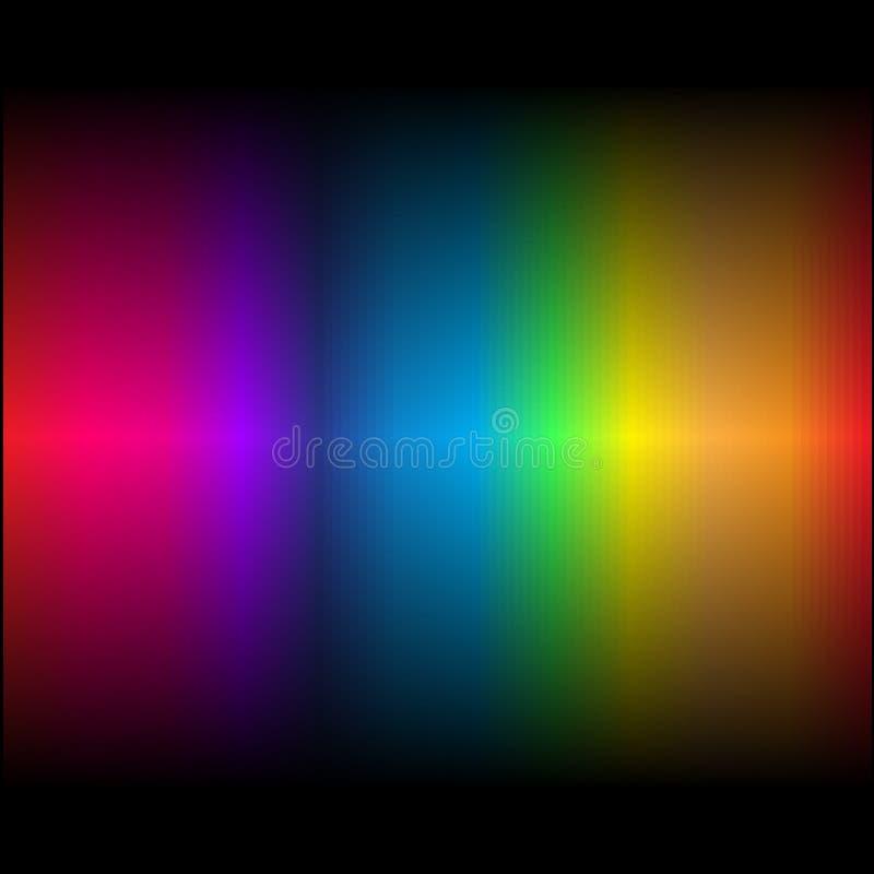 Cores abstratas 3 do arco-íris ilustração do vetor