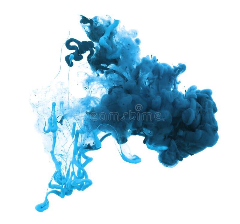 Cores acrílicas e tinta na água abstraia o fundo foto de stock royalty free