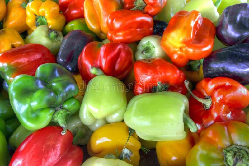 Cores Assorted das pimentas de Bell doce fotos de stock