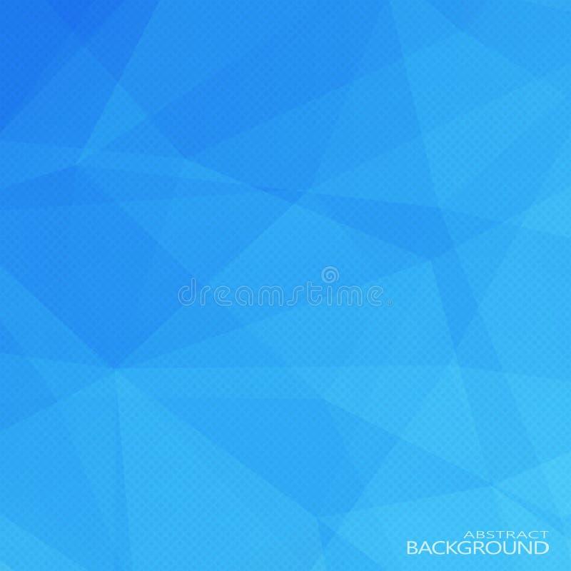 Cores azuis abstratas triangulares geométricas ilustração do vetor