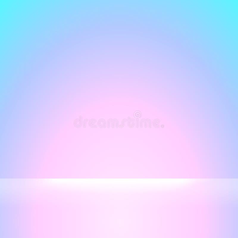 Cores azuis e cor-de-rosa do inclinação macias e brilho claro branco para o fundo, o rosa e o papel de parede macio roxo do incli ilustração do vetor