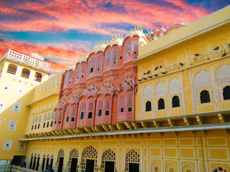 Cores bonitas de jaipur hawamahal imagens de stock royalty free