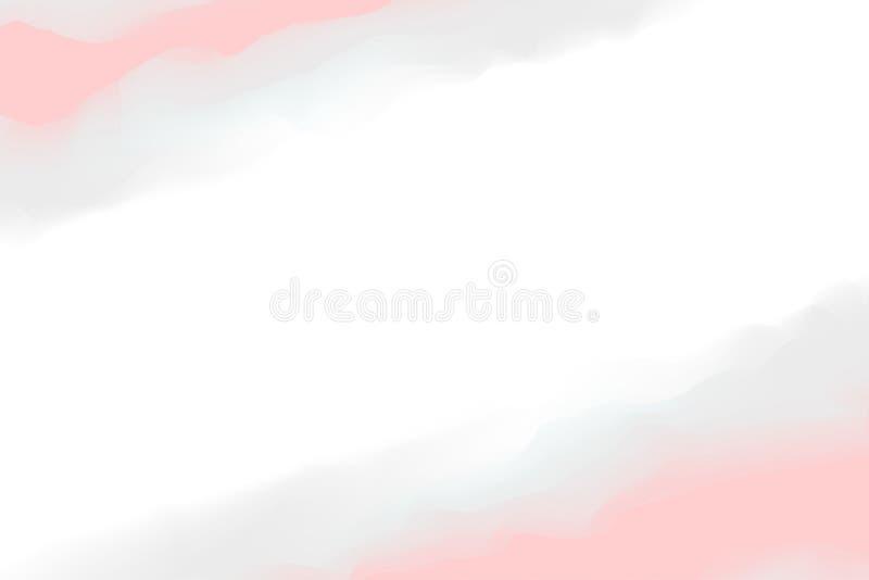Cores cinzentas cor-de-rosa digitais da pintura da ilustração macias na arte da cor de água do conceito, pintura macia pastel das ilustração do vetor