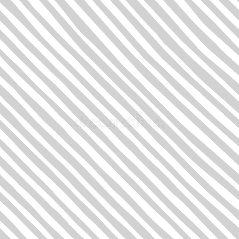 Cores cinzentas da listra diagonal do teste padrão e brancas sem emenda Suficiências de teste padrão, fundo do página da web, tex ilustração do vetor