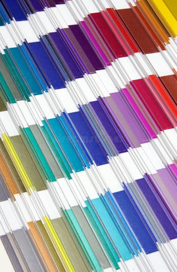 Cores da amostra de Pantone fotografia de stock