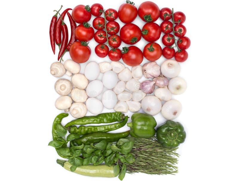 Cores da bandeira de Hungria do alimento imagem de stock