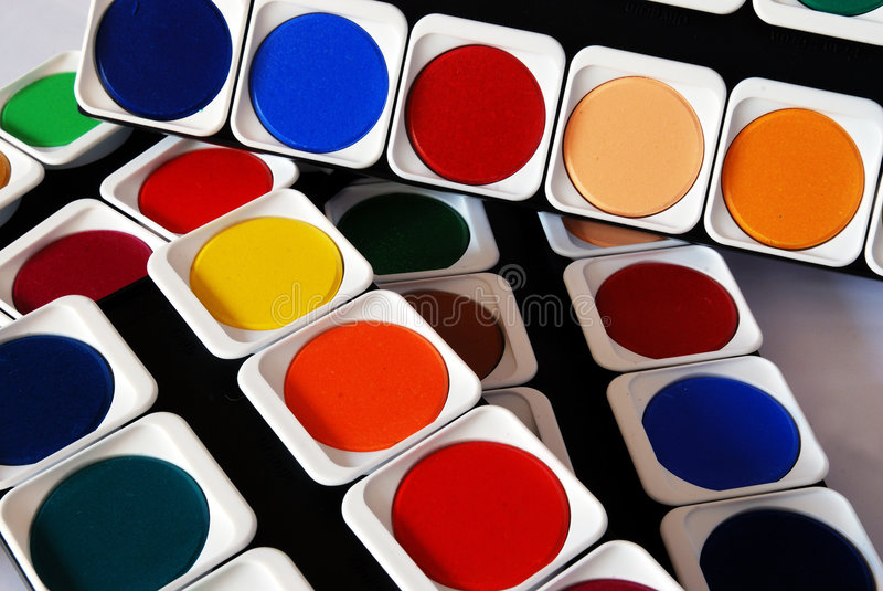 Cores da pintura imagem de stock