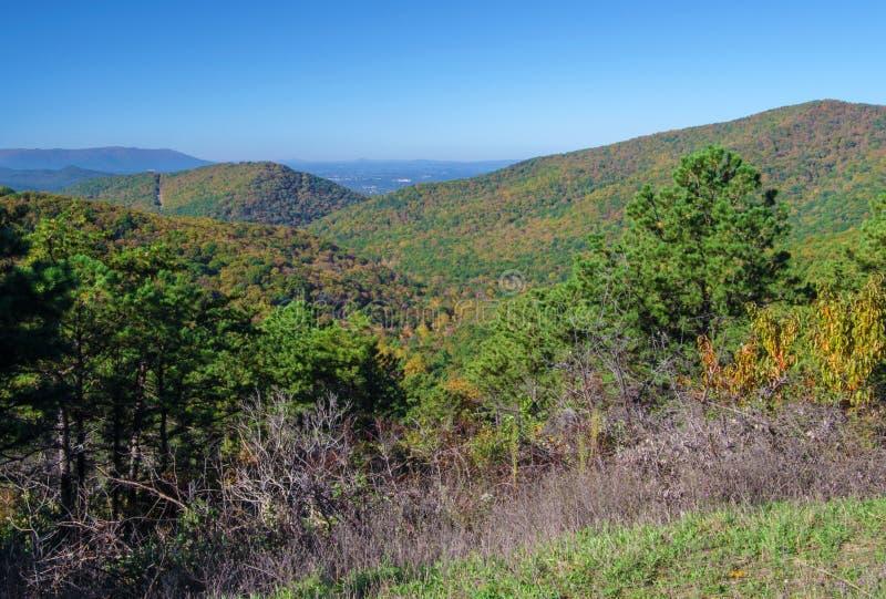 Cores da queda no parque nacional -3 de Shenandoah fotografia de stock