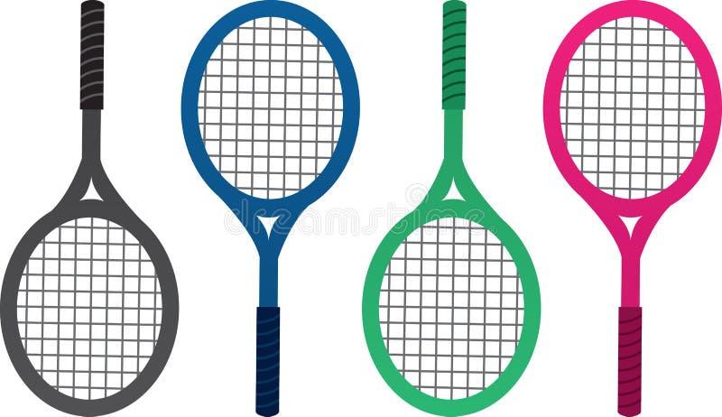 Cores da raquete de tênis ilustração stock