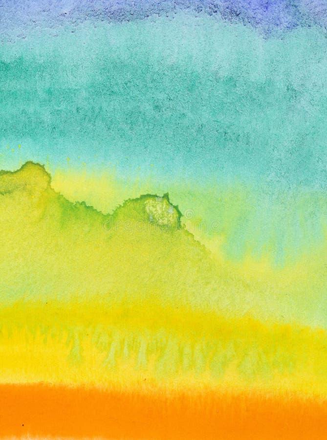 Cores de água do fluxo no papel ilustração do vetor
