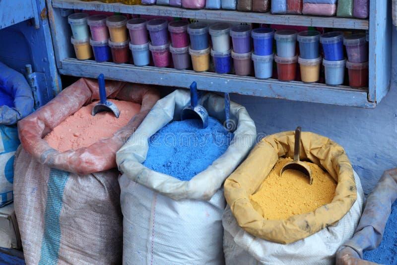 Cores de Chefchaouen, Marrocos imagens de stock royalty free