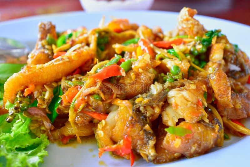 Cores de Fried Rice Beautiful do caranguejo, apetitoso e importante Muito saboroso imagem de stock royalty free