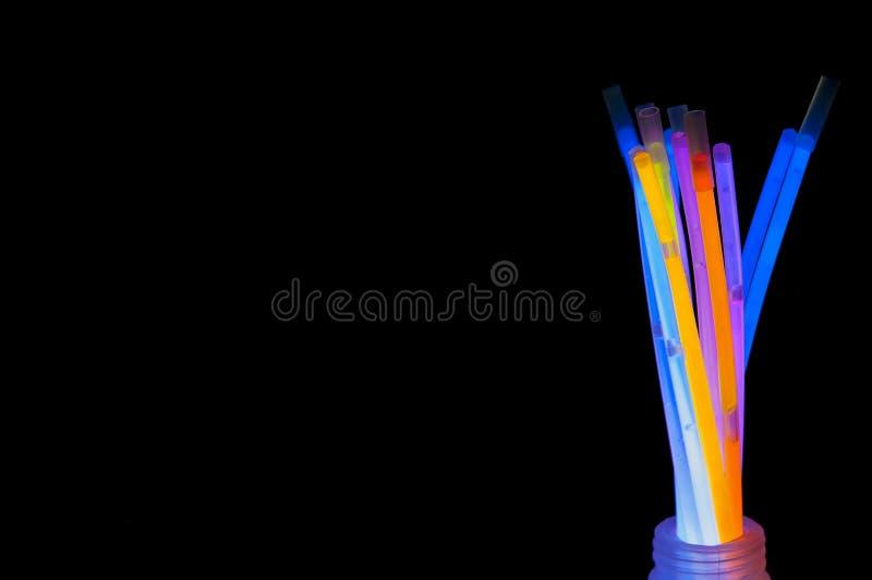 Cores de Glowstick fotografia de stock