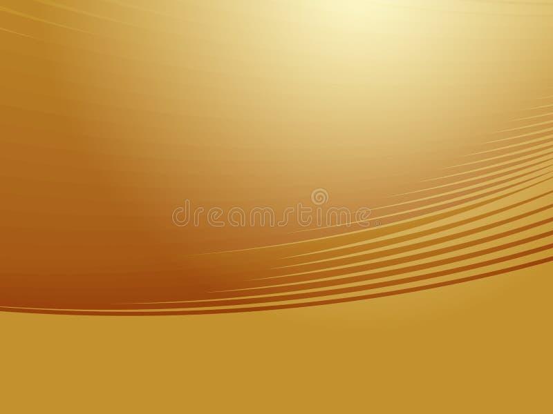 Cores de incandescência onduladas ilustração do vetor