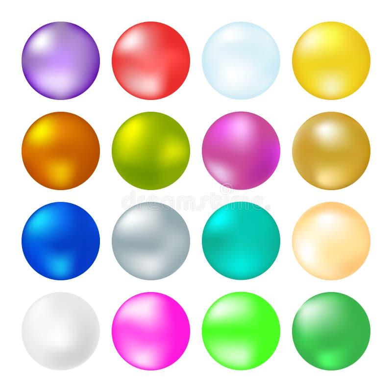 Cores diferentes das bolas brilhantes ilustração royalty free