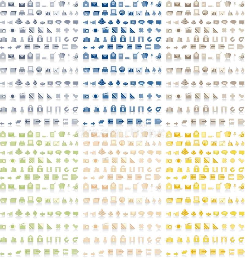 Cores do bloco 6 dos ícones
