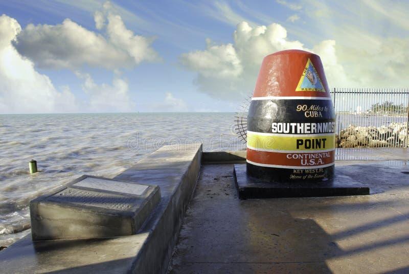 Cores do céu do ponto o mais southernmost em Florida foto de stock royalty free