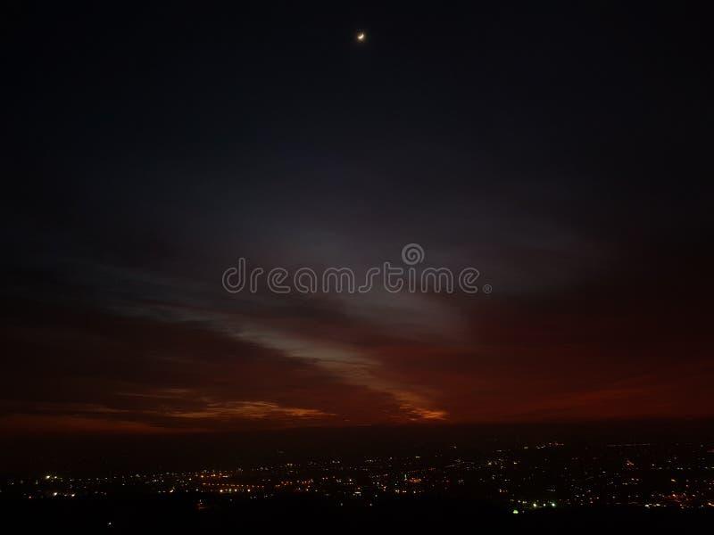 Cores do céu em Egito fotografia de stock royalty free