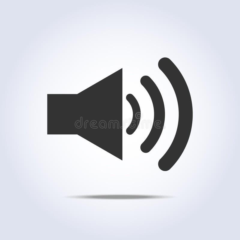 Cores do cinza do ícone do volume do orador ilustração do vetor