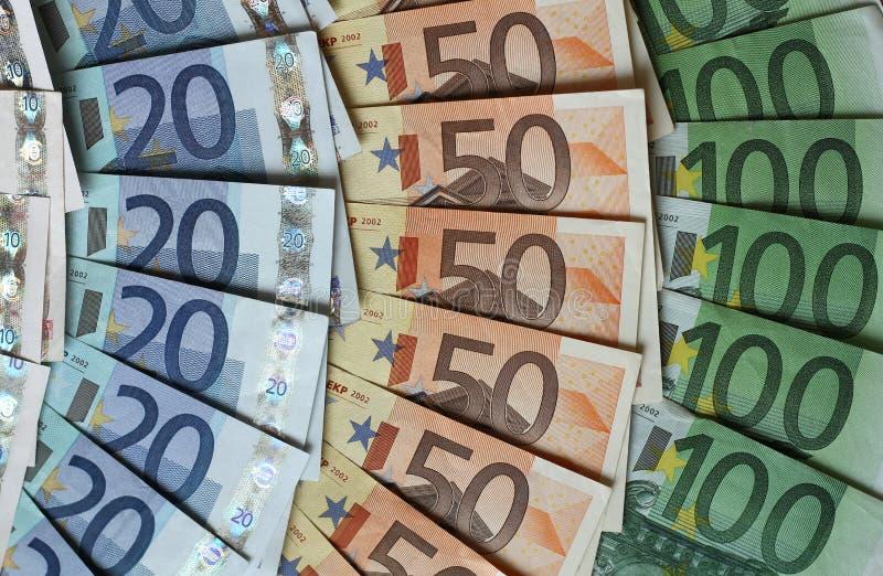 Cores do euro- dinheiro foto de stock royalty free