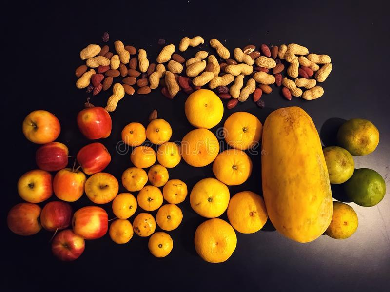 Cores do fruto fotos de stock