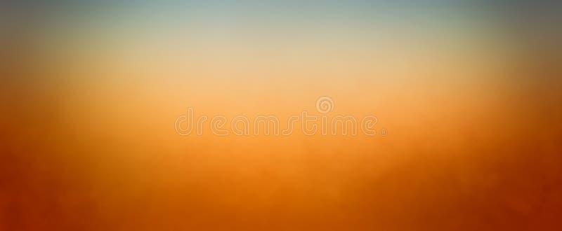 Cores do inclinação do ouro alaranjado e do verde em um borrão liso da textura e escuro mornos - projeto azul da beira no fundo b ilustração stock