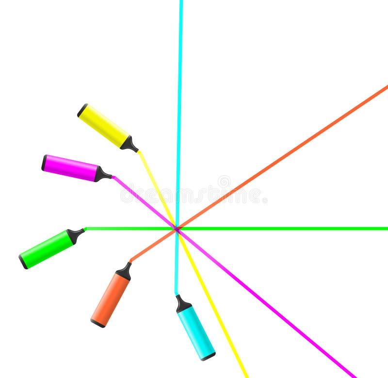 Cores do lápis ilustração stock