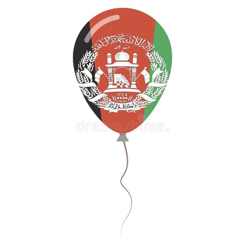 Cores do nacional de Islamic State of Afghanistan ilustração do vetor