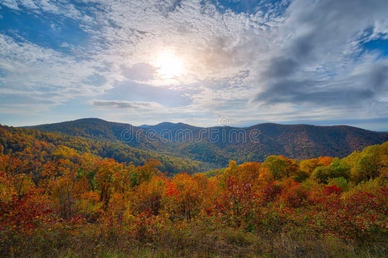 Cores do outono no parque nacional de Shenandoah imagens de stock royalty free