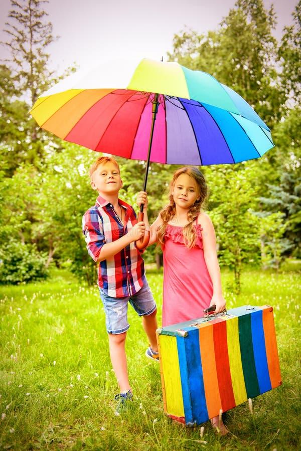Cores do verão do arco-íris fotografia de stock royalty free