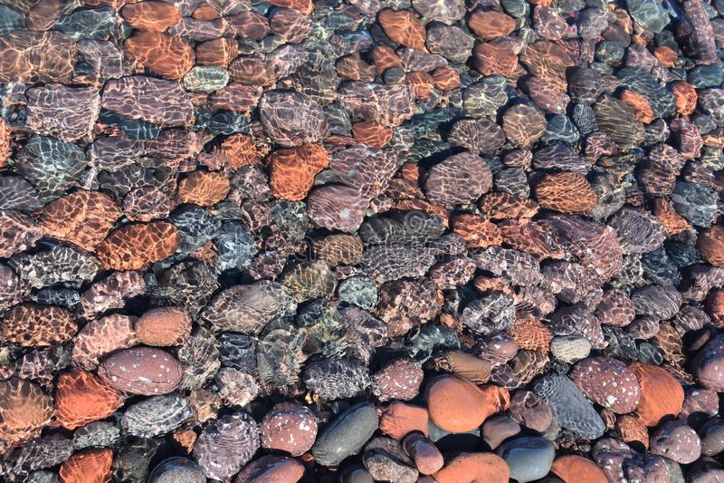 Cores dos termas da rocha fotografia de stock