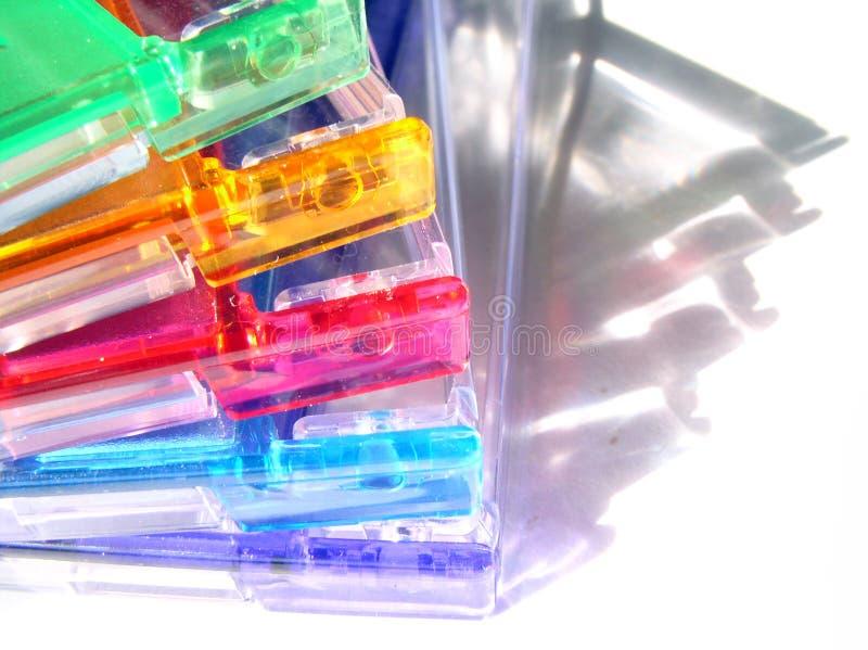 Cores e coleção 20 das tampas imagens de stock