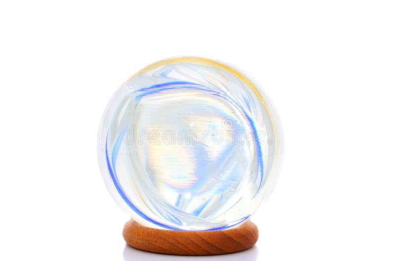 Cores em uma esfera de cristal fotos de stock royalty free