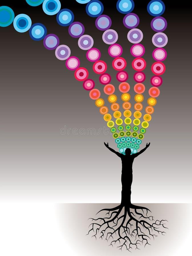 Cores humanas da árvore ilustração stock