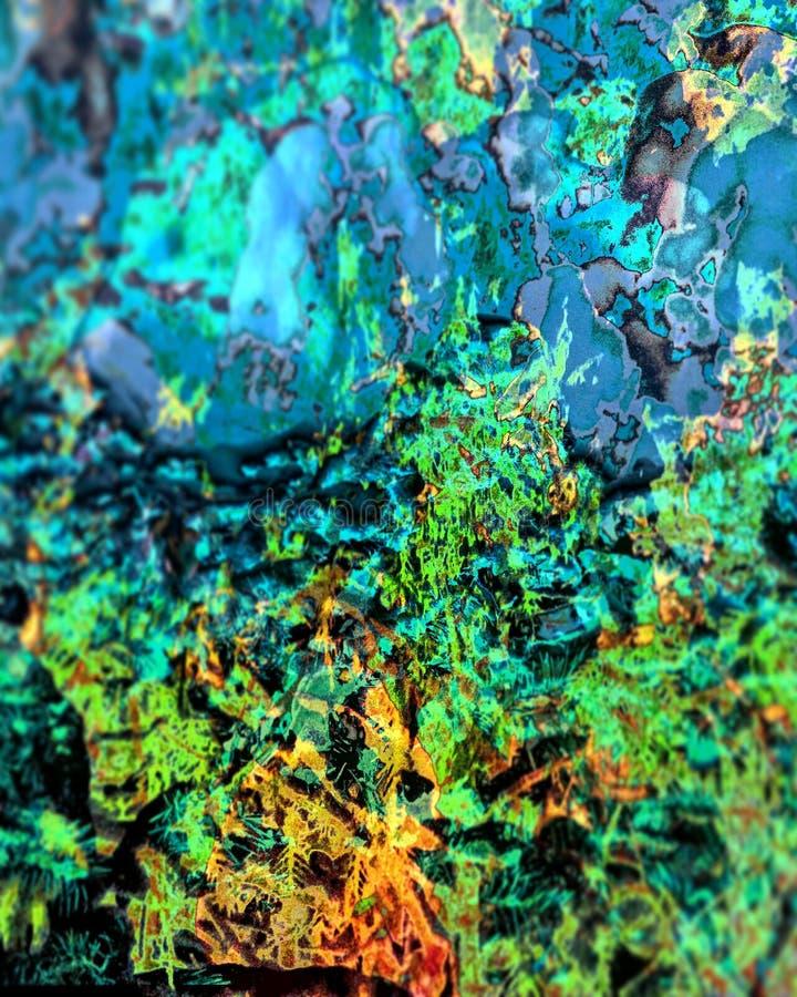 Cores mergulhadas Trippy fotografia de stock