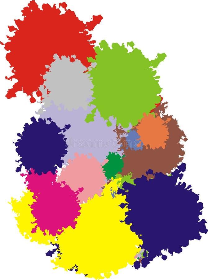 Cores para a pintura ilustração do vetor