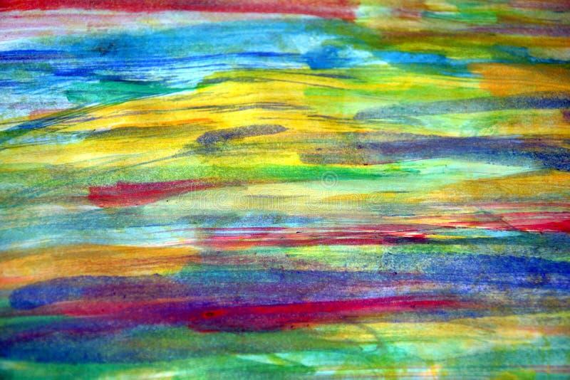 Cores pastel da pintura do arco-íris e fundo abstrato imagens de stock