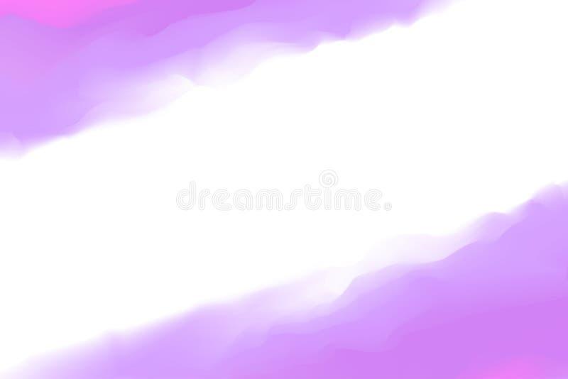 Cores roxas digitais de pintura macias na arte da cor de ?gua do conceito, cores macias pasteis roxas do quadro abstrato que pint ilustração do vetor