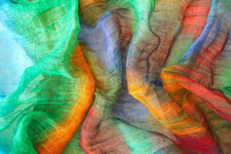 Cores vibrantes na matéria têxtil fotos de stock