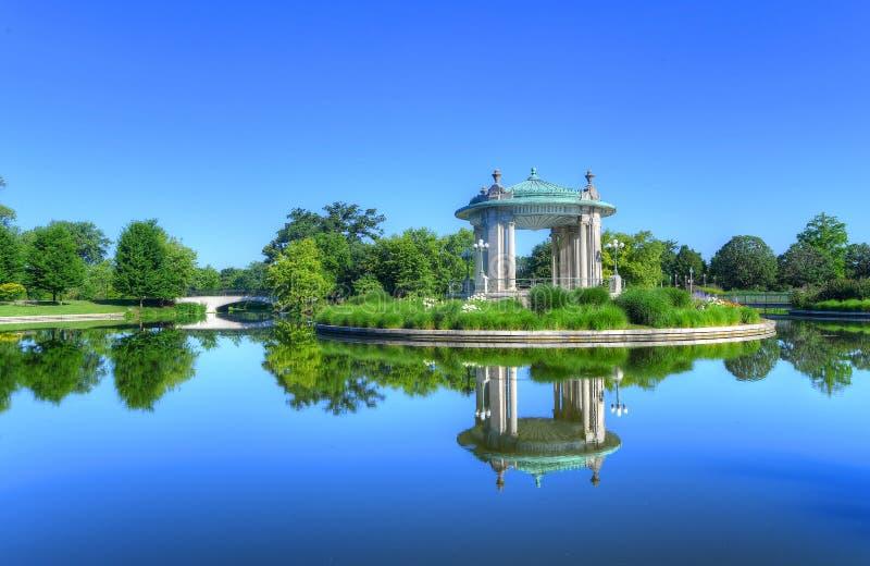 Coreto de Forest Park em St Louis, Missouri fotos de stock royalty free