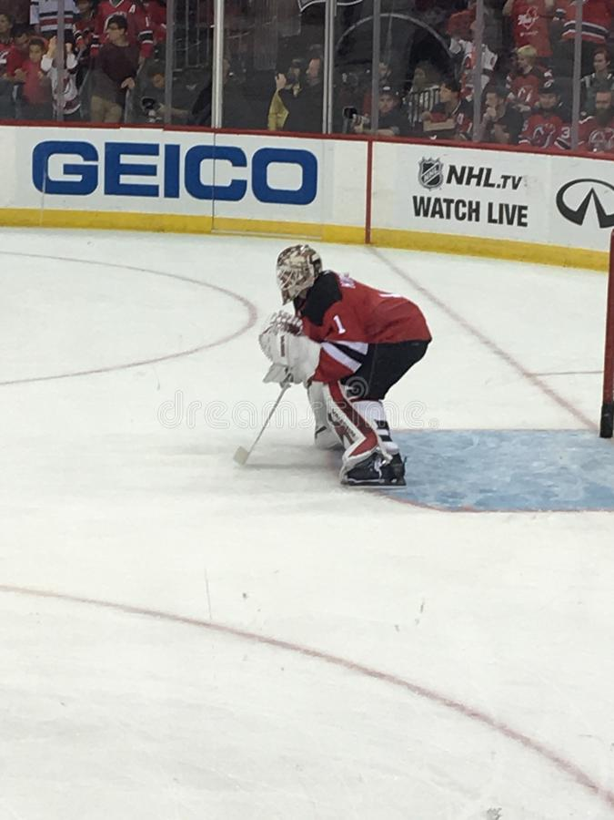 Corey Schneider, New Jersey Devils imagenes de archivo