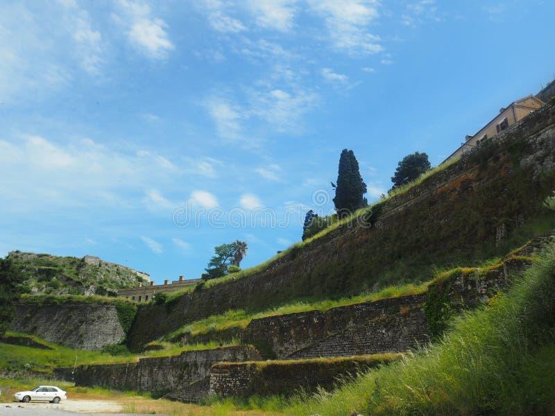Corfù, Grecia-vecchia fortezza fotografia stock libera da diritti
