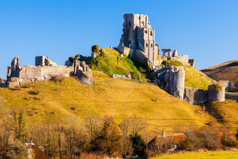 Corfe Castle Dorset England stock photo