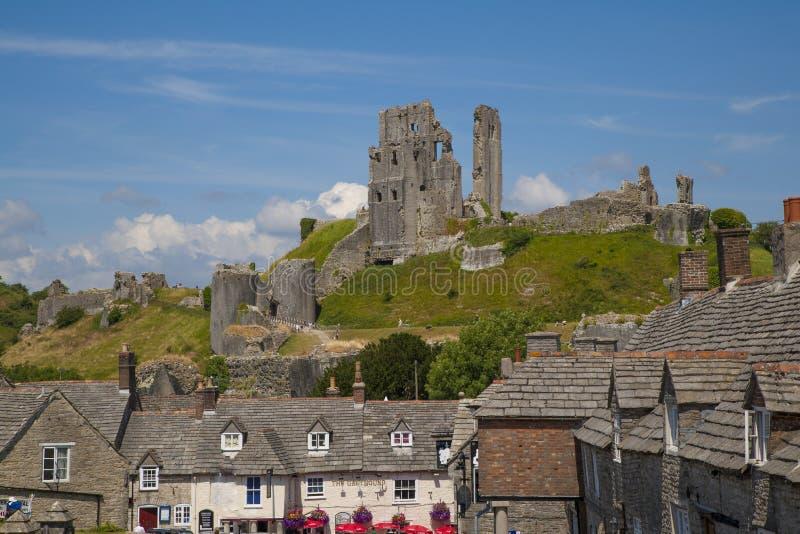 Corfe Castle, Village & Castle, Dorset,England Stock Photo - Image ...