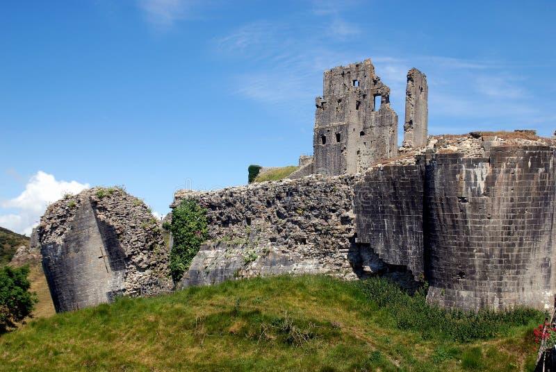 Corfe, Engeland: De Ruïnes van het Kasteel van Corfe royalty-vrije stock fotografie