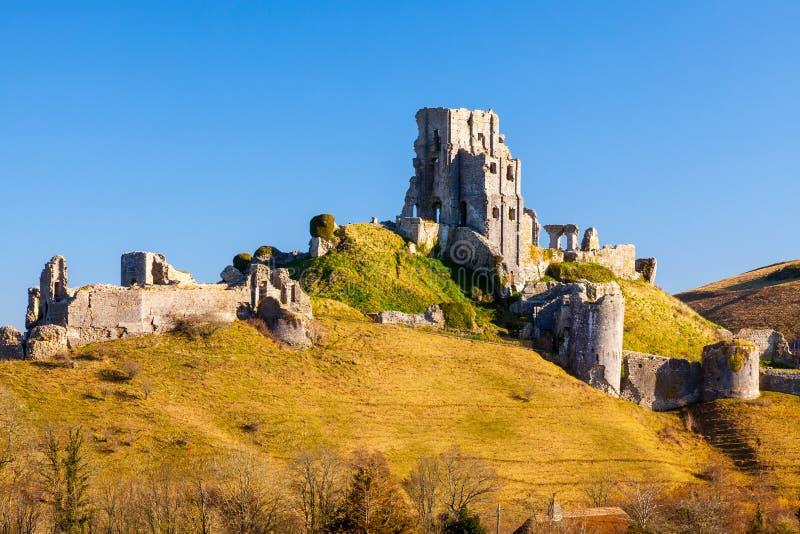 Corfe kasztel Dorset Anglia zdjęcia stock