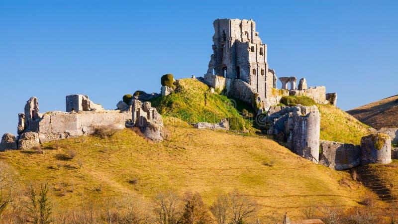 Corfe kasztel Dorset Anglia obraz royalty free